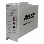 NEW Pelco FRV40D2S1ST 4 Channel ST Fiber Receiver, Single Mode