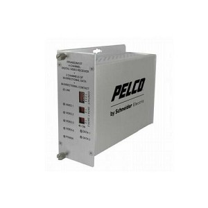 NEW Pelco FTV40D2S1ST 4 Ch. ST Video Fiber Transmitter Bidirectional, Single Mod