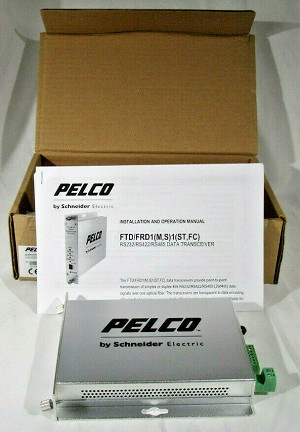 NEW PELCO FTD1S1FC SINGLE CHANNEL BIDIRECTIONAL FIBER DATA TRANSMITTER