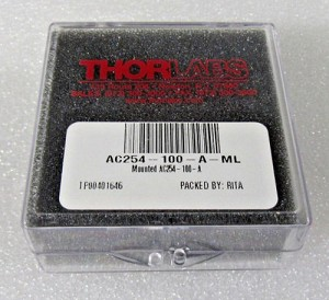 NEW THOR LABS AC254-100-A-ML ACHROMATIC DOUBLET 100mm SM-1 THREADED MOUNT